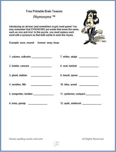 Brain Teasers Printable Worksheets Free Printable Brain Teasers