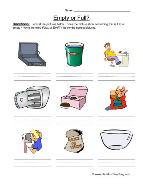 Capacity Worksheets Kindergarten Capacity Worksheets • Have Fun Teaching