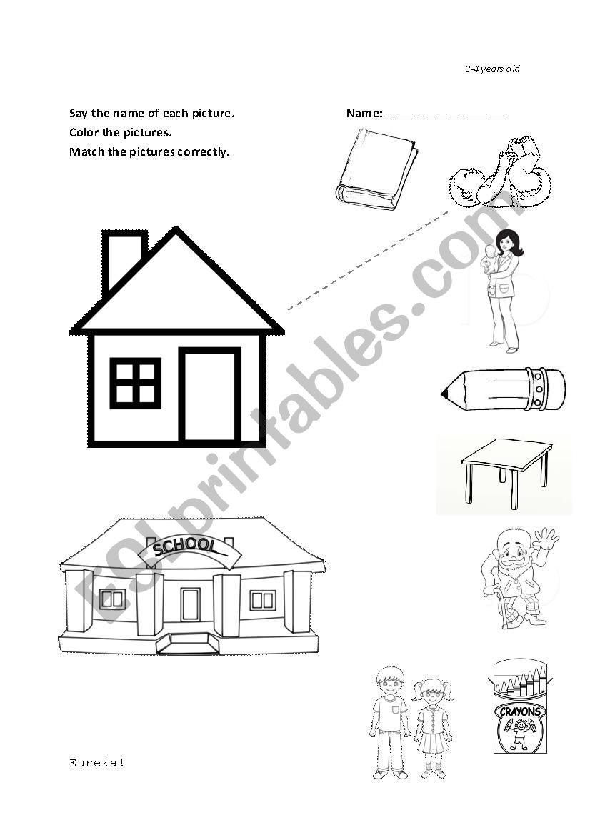 Categorizing Worksheets for Kindergarten Family and School Kinder Categorize Esl Worksheet by Hodizzle