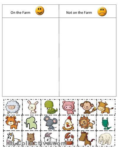 Categorizing Worksheets for Kindergarten Free sorting Worksheets for Kindergarten & Kindergarten