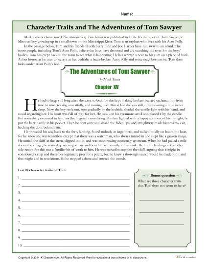 Character Traits Worksheet 2nd Grade Character Traits Worksheets