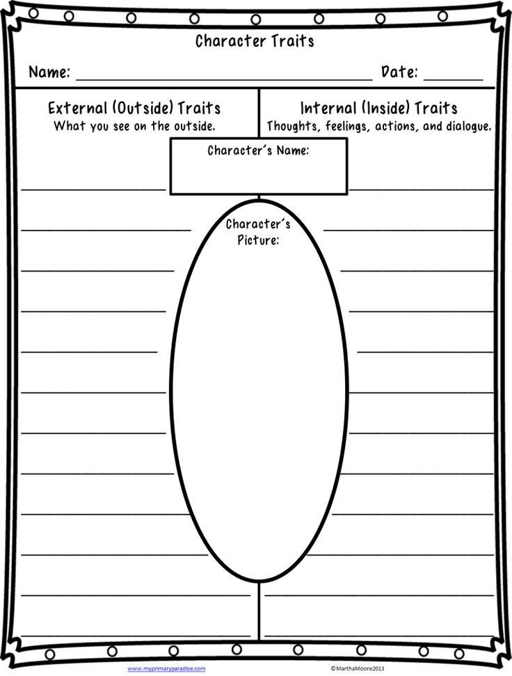 Character Traits Worksheet 2nd Grade Quite A Character Teaching Character Traits