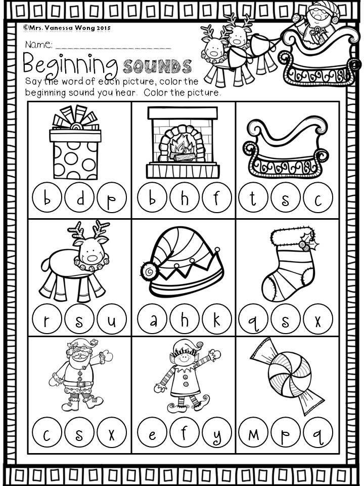 Christmas Counting Worksheets Kindergarten Christmas Math and Literacy Pack Kindergarten Beginning
