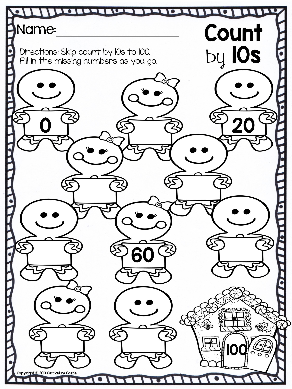 Christmas Counting Worksheets Kindergarten Christmas Skip Counting Freebie