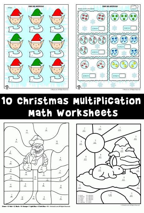christmas math worksheets 2 3 4 grade