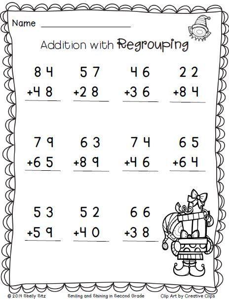 Christmas Math Worksheets 3rd Grade Christmas Freebie Print and Go 2nd Grade Math Worksheets