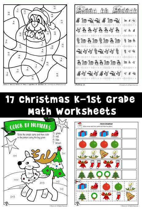 Christmas Math Worksheets 3rd Grade Free Printable Christmas Math Worksheets Pre K 1st Grade