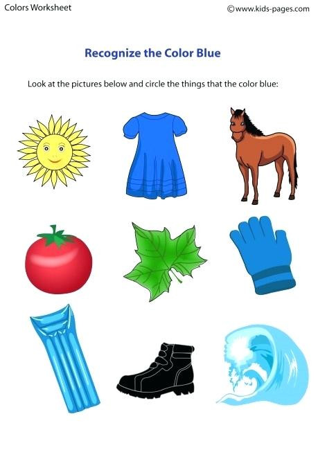 Color Blue Worksheets for Preschool Blue Worksheets – Keepyourheadup