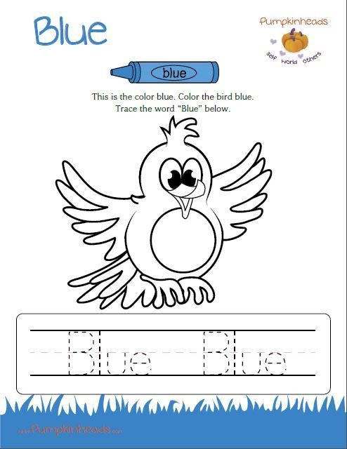 Color Blue Worksheets for Preschool Check Out Our Worksheets for the Classroom and at Home
