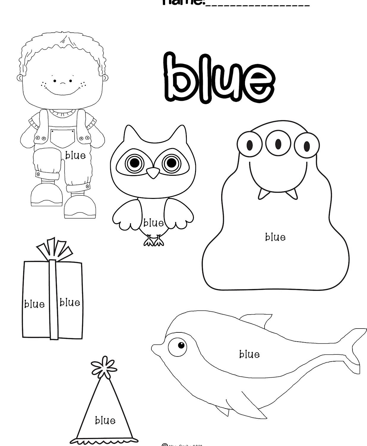 Color Blue Worksheets for Preschool Color Blue Worksheets for Preschool Worksheet Teaching Kids