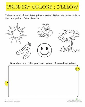 Color Blue Worksheets for Preschool Learning Colors Worksheets for Preschoolers Color orange