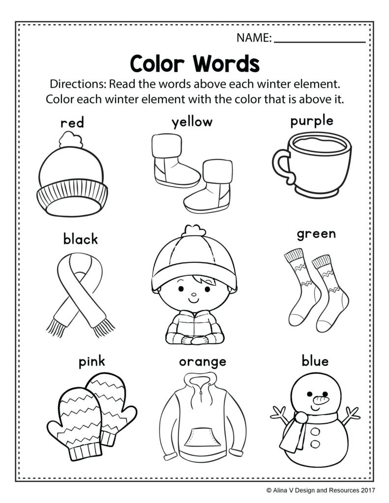 Color Blue Worksheets for Preschool Preschool Worksheets Color Red Clover Hatunisi