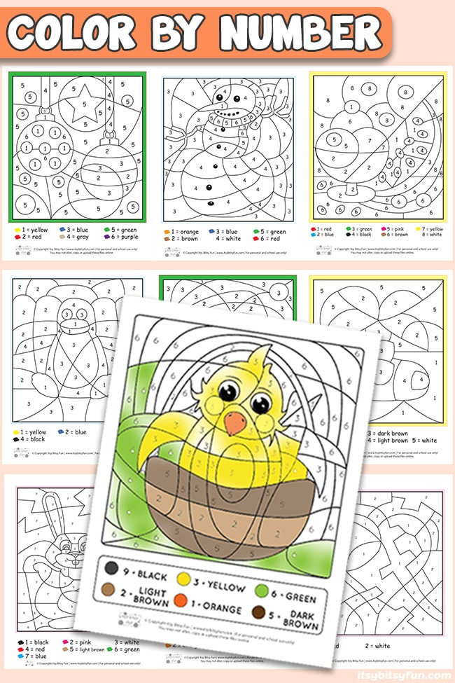 Color by Number Worksheets Kindergarten Free Printable Color by Number Worksheets Itsy Bitsy Fun