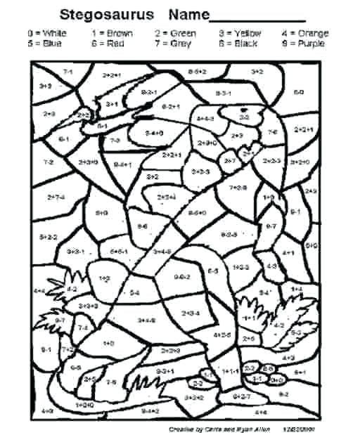 Coloring Addition Worksheet Color by Sum Worksheets – Dailycrazynews