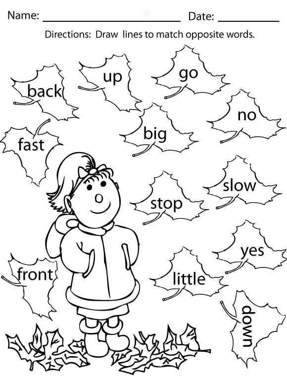 Coloring Sight Words Worksheets Fall Coloring Pages and Activities Sight Words Reading