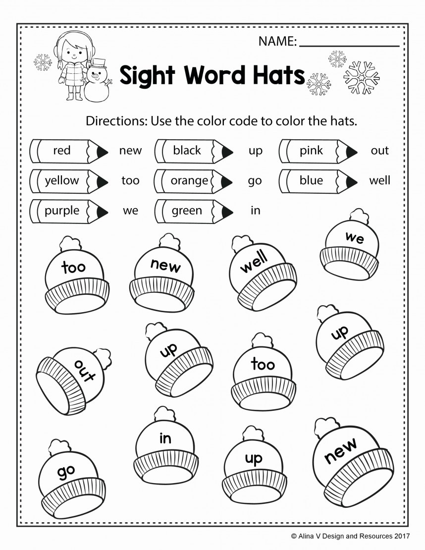 "Coloring Sight Words Worksheets Sight Word Worksheets for 1st Graders لم يسبق له Ù…Ø ÙŠÙ"" الصور"