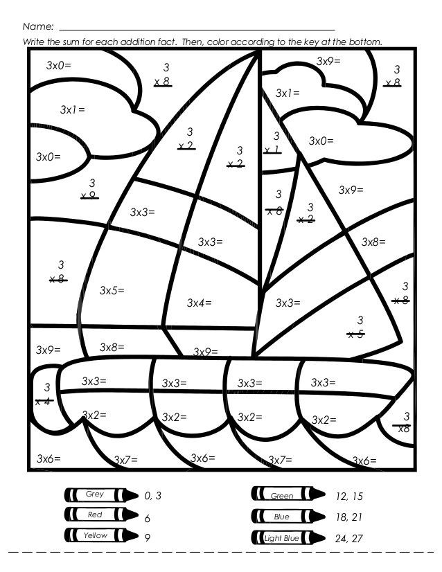 Coloring Worksheets for 3rd Grade Mystery Picture Multiplication Worksheets Multiplication