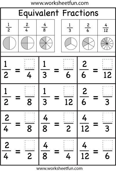 Comparing Fractions Third Grade Worksheet 4th Grade Worksheets Equivalent Fractions
