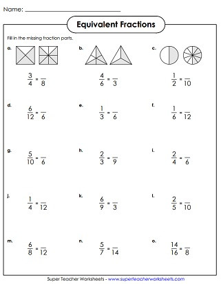 Comparing Fractions Third Grade Worksheet Equivalent Fractions & Simplifying Fractions Worksheets