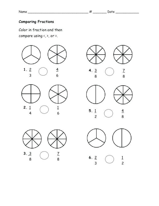 Comparing Fractions Third Grade Worksheet Fraction Activities 3rd Grade Fraction Coloring Sheets Grade