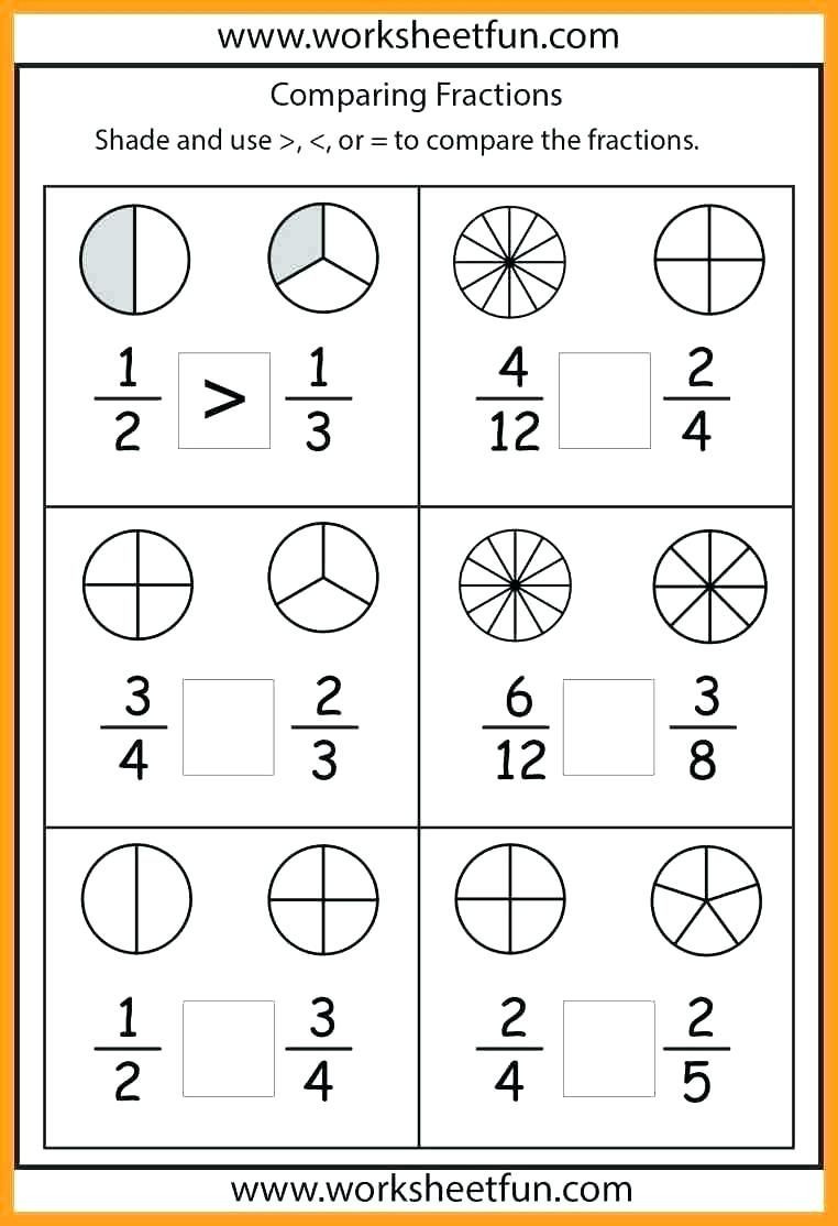 Comparing Fractions Third Grade Worksheet Free 1st Grade Measurement Worksheets 1st Grade