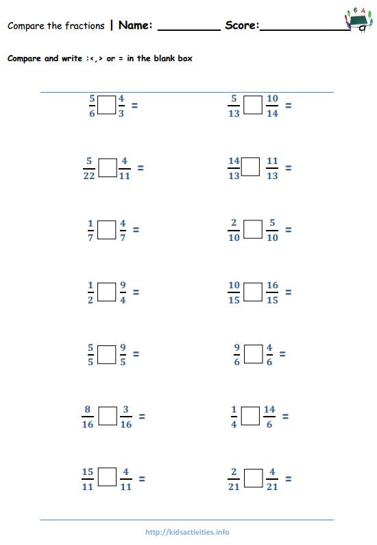 Comparing Fractions Worksheet 4th Grade Fraction Worksheets for 4th Grade & Improper Fractions