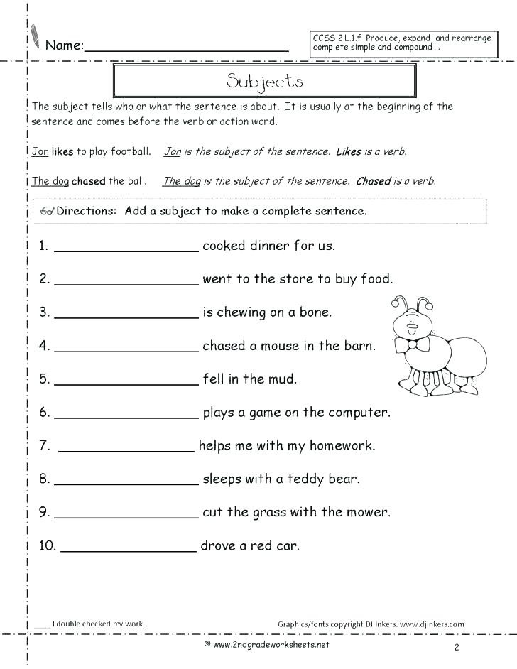 Complete Sentences Worksheets 3rd Grade Types Of Sentences Worksheets 3rd Grade – Dailycrazynews