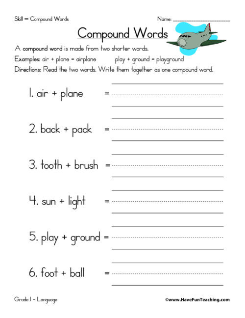 Compound Word Worksheet 2nd Grade Pound Words Worksheets • Have Fun Teaching