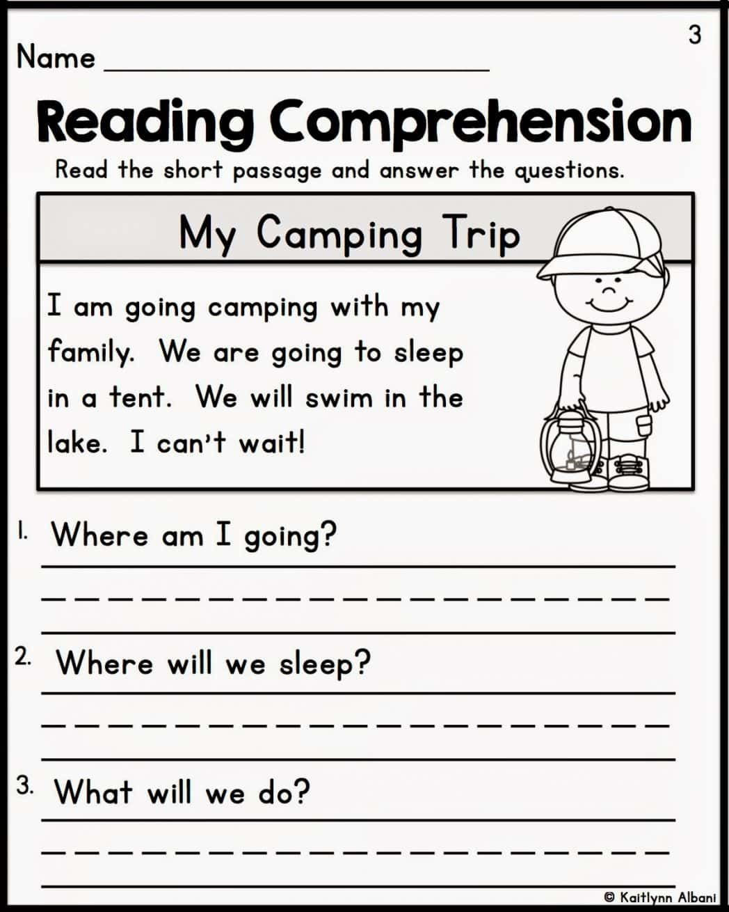 Comprehension Worksheet First Grade Prehension Worksheets for Grade 1 Free