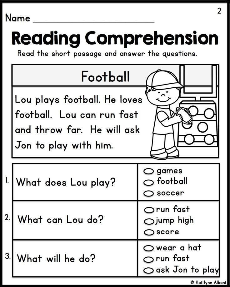 Comprehension Worksheet First Grade Reading Prehension Worksheets for First Grade Students 1