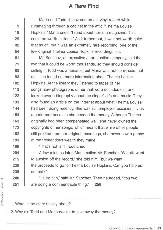 Comprehension Worksheets 6th Grade Reading Worksheets for 6th Grade Free