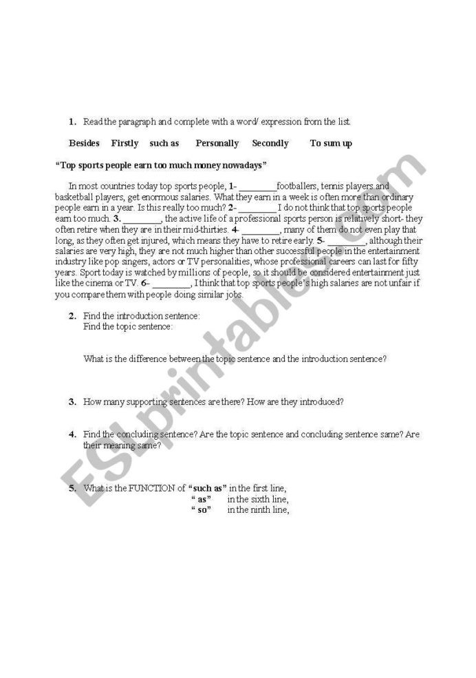 Conjunctions Worksheets 5th Grade English Worksheets Paragraph Pletion with Conjunctions