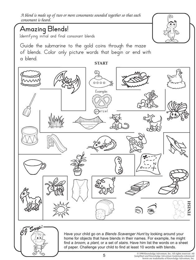 Consonant Blends Worksheets 3rd Grade Amazing Blends Free Reading and English Worksheets for