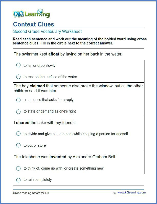 Context Clues 5th Grade Worksheets 5th Grade Vocabulary Words and Definitions Printable Grade 2