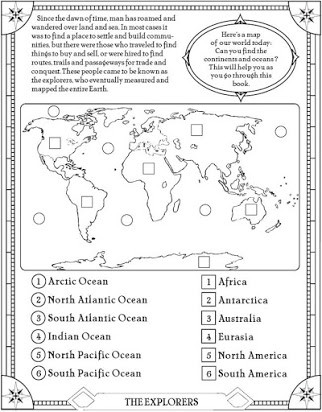 Continents and Oceans Printable Worksheets Continents Of the World Free Printable Worksheets