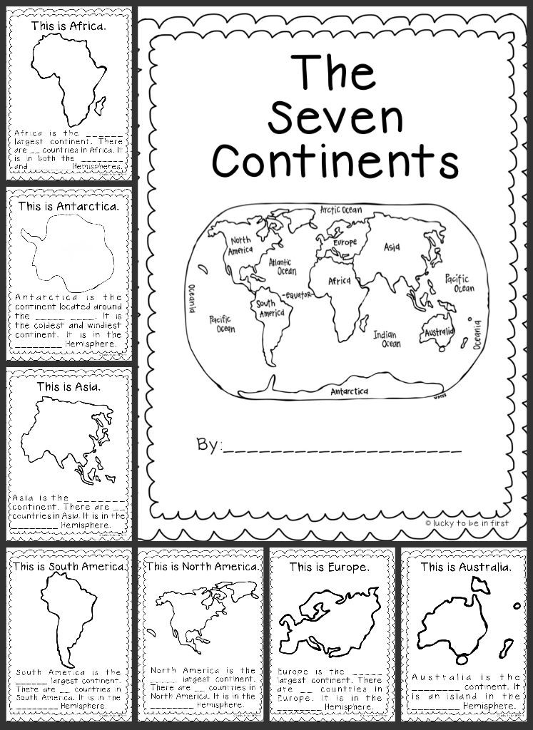 Continents and Oceans Printable Worksheets Geography Worksheet 1st Grade Worksheets Continent Book High