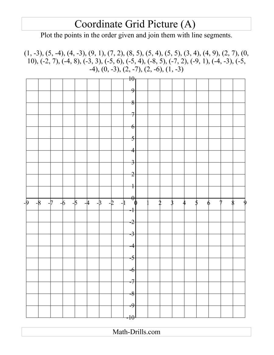 Coordinate Grids Worksheets 5th Grade the Plotting Coordinate Points Art Red Maple Leaf A