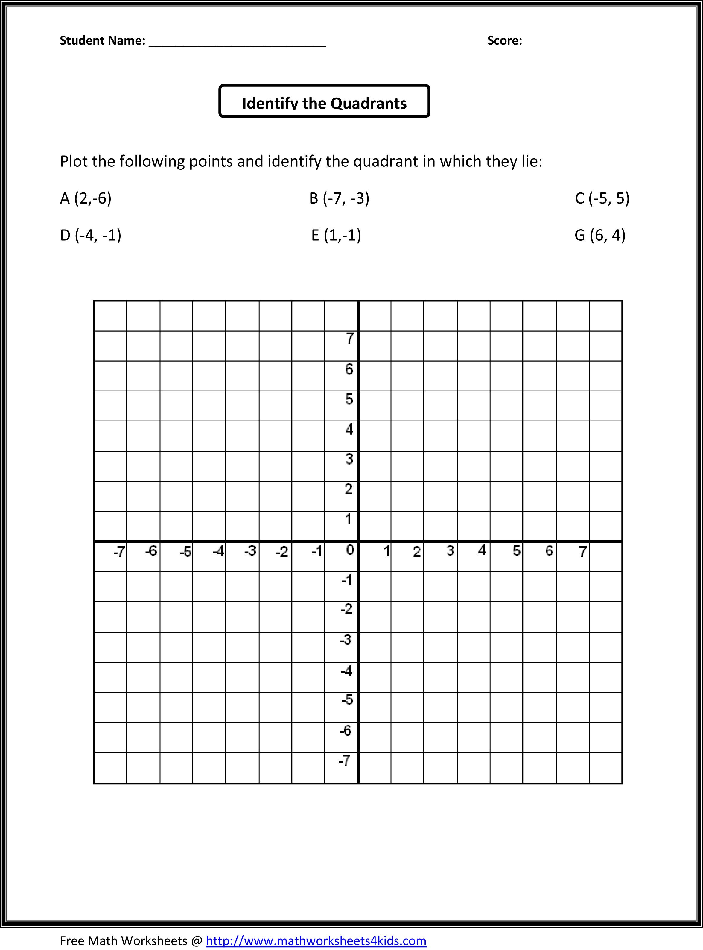 Coordinate Plane Worksheets 5th Grade 5th Grade Math Worksheets