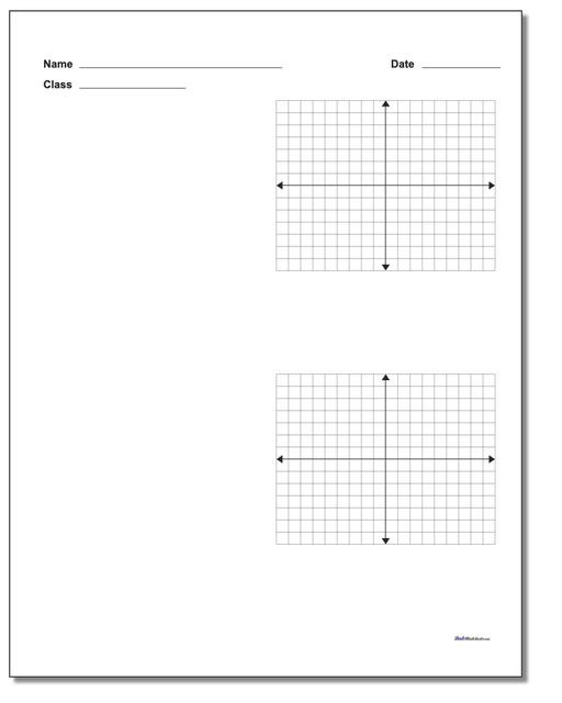 Coordinate Plane Worksheets 5th Grade Blank Coordinate Plane Work Pages