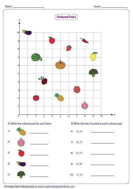 Coordinate Plane Worksheets 5th Grade ordered Pairs and Coordinate Plane Worksheets with Images