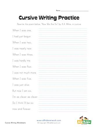 Cursive Sentences Worksheets Printable Cursive Writing Sentences Worksheet