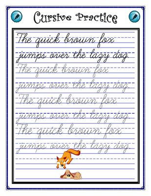 Cursive Sentences Worksheets Printable Penmanship Cursive Practice Sentence Worksheet From Jen S