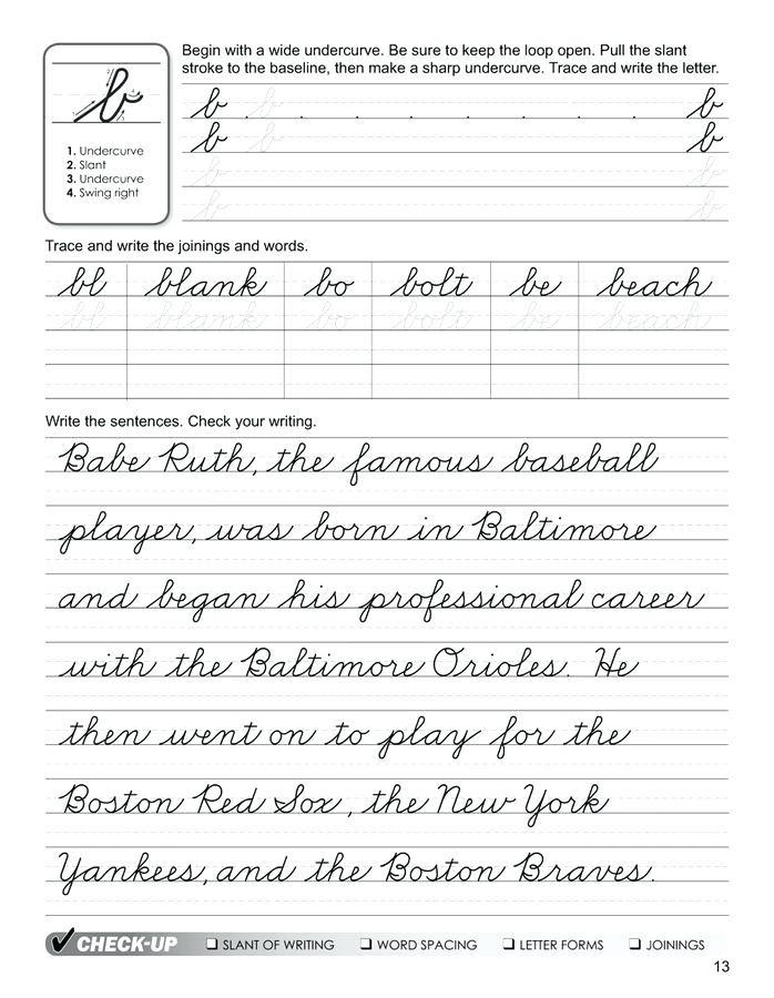 Cursive Sentences Worksheets Printable Script Writing Worksheets Cursive Handwriting Worksheets