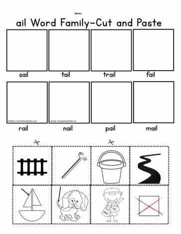 Cut and Paste Worksheets Kindergarten Ail Cut and Paste Worksheet Worksheets
