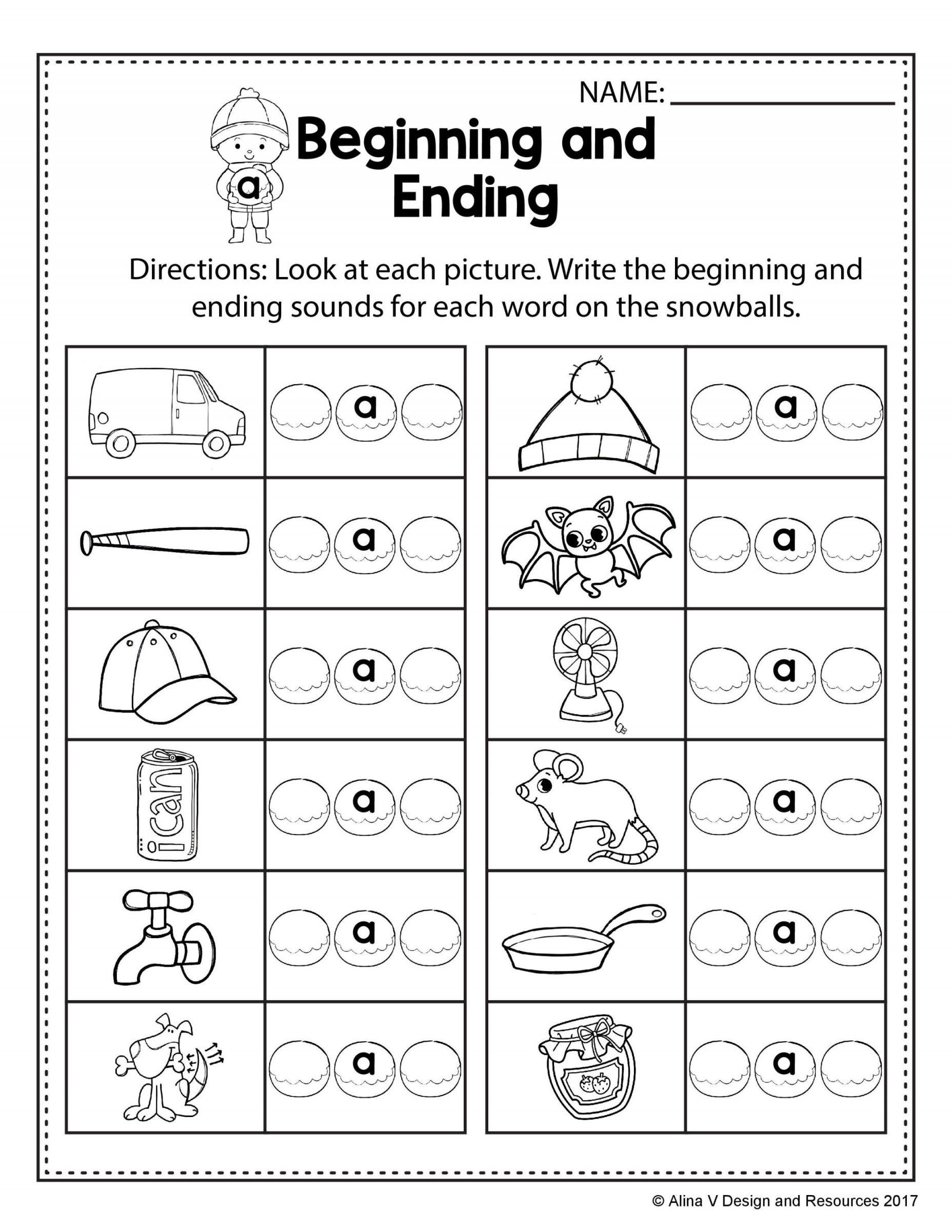 Cvc Worksheet Kindergarten Winter Cvc Worksheet