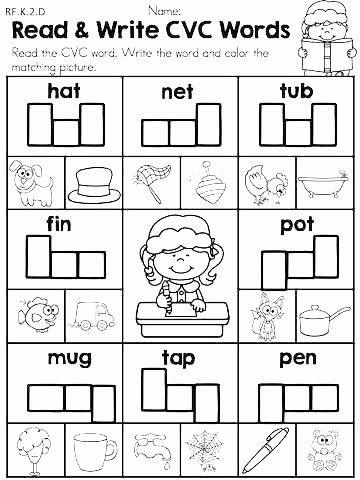 Cvc Worksheets Kindergarten Free Sentence Starters for Kindergarten Best Cvc Worksheets
