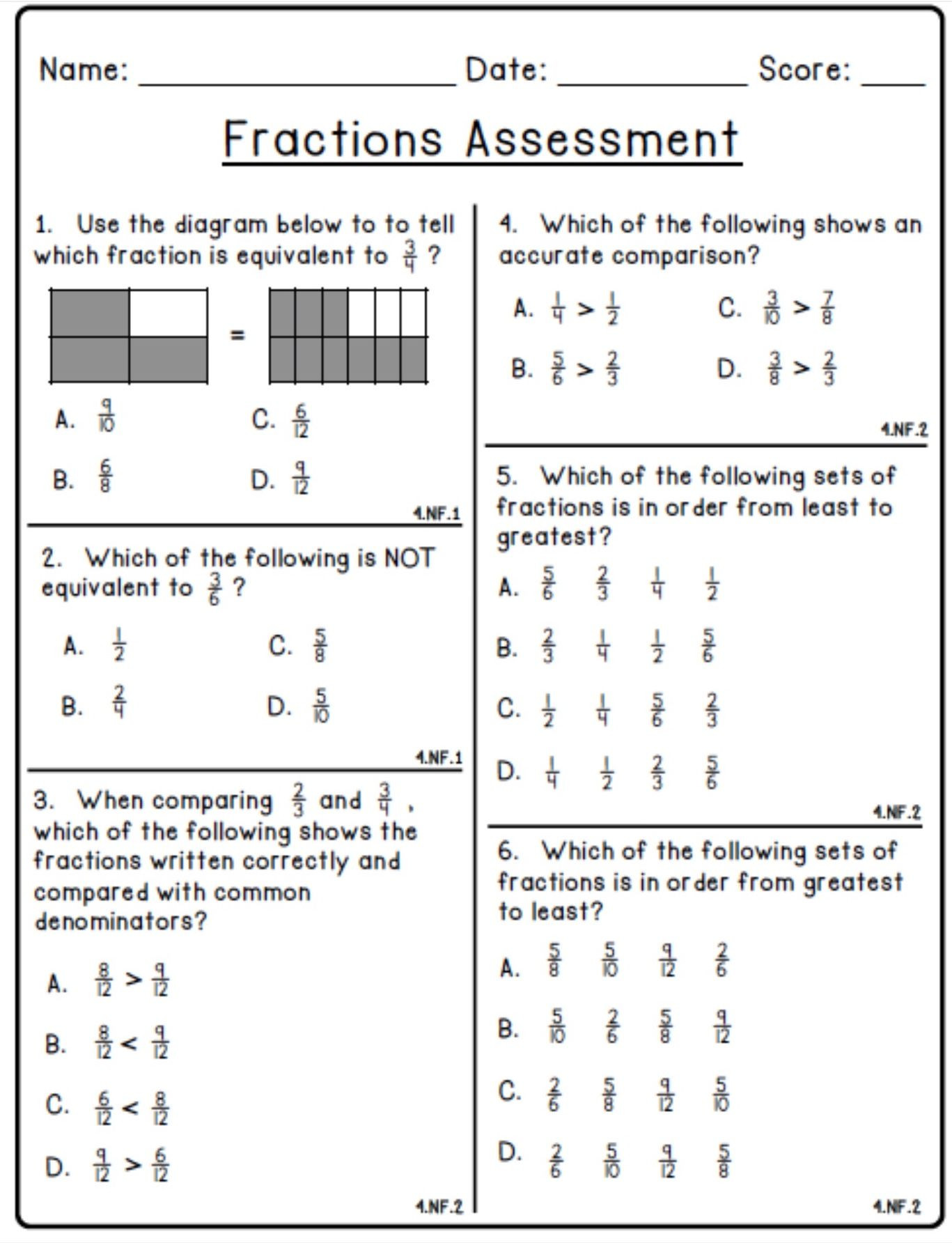 Decomposing Fractions Worksheets 4th Grade 5th Grade Fraction Worksheet Printable Christmas