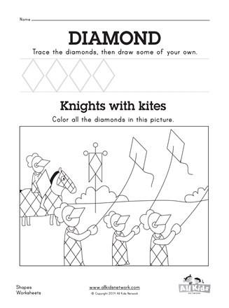 Diamond Worksheets for Preschool Diamond Worksheet