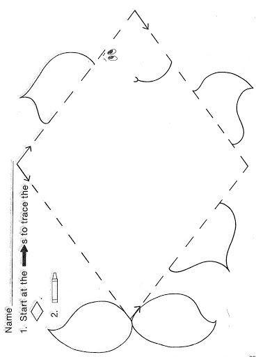Diamond Worksheets for Preschool Trace Diamond Worksheet