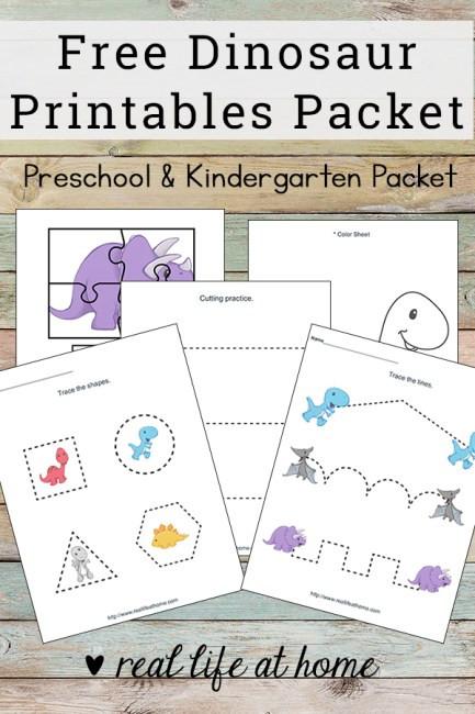 Dinosaur Worksheets for Kindergarten Dinosaur Printables for Preschoolers Free Dinosaur